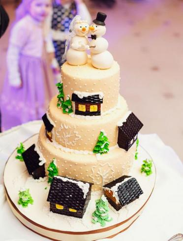 Un wedding cake hivernal original