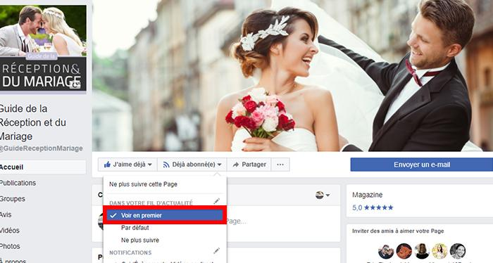 guide réception mariage